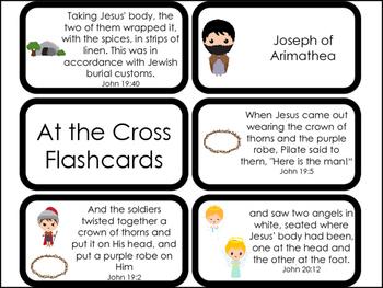 23 Printable At the Cross Flashcards. Preschool-Kindergarten Bible C