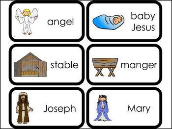 23 Printable Birth of Jesus Flashcards. Preschool-Kindergarten Bible Curriculum.