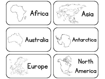 picture relating to Printable Continents called 23 Printable Black and White Geography Term Flashcards. Continents and Oceans.