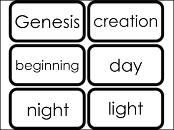 23 Printable Days of Creation Sight Words Flashcards. Pres