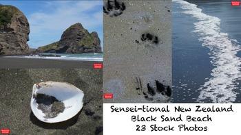 23 Sensei-tional New Zealand Black Sand Beach Stock Photos
