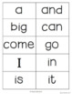 Sight Word Assessments (Dolch Lists) for Grades K, 1, 2