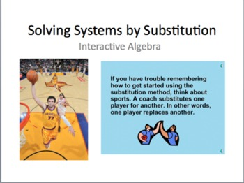 23) Solving Systems of Equations by Substitution (Complete 2+ Day PPT Lesson)