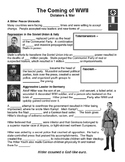 23 - The Coming of World War II - Scaffold/Guided Notes (Blank and Filled-In)
