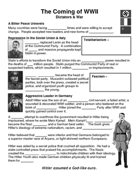 23 - The Coming of World War II - Scaffold/Guided Notes (B