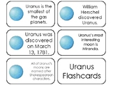 23 Uranus Printable Planetary Facts Flashcards. Astronomy