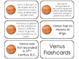 23 Venus Printable Planetary Facts Flashcards. Astronomy