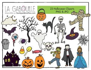 23 cliparts effrayants d'Halloween