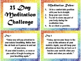 23 Day Meditation Challenge - Daily Meditation Prompts