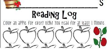 23 day apple reading log