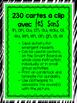 230 Cartes à clip avec les sons (Clip-it Cards: French Sounds) - Bundle