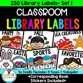 230 Classroom Library Labels & Corresponding Book Stickers