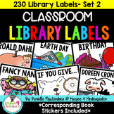 230 Classroom Library Labels & Corresponding Book Stickers {Set 2}