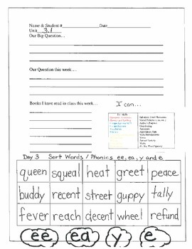 2.3.1 RS Weekly Work Packet, Second Grade, Reading Street
