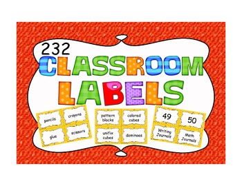232 Classroom Labels