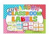 232 Rainbow Classroom Labels {ENGLISH}