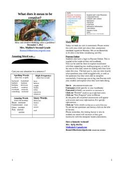 2.3.3 Anansi Goes Fishing Reading Street 2nd Grade Newsletter Unit 3 Week 3