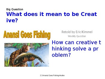 2.3.3, Anansi Goes Fishing, Reading Street, Second Grade, PowerPoint Smart Board