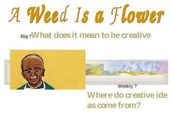 2.3.5, A Weed is a Flower, Reading Street Second Grade Unit 3 Week 5 smart board