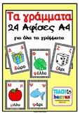 24 Αφίσες Α4  για κάθε γράμμα του αλφάβητου ξεχωριστά
