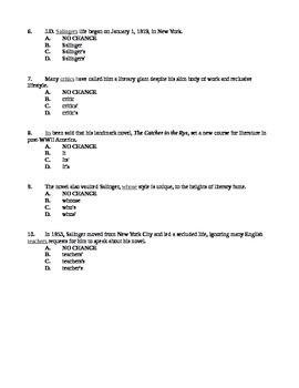 24-27 Apostrophes Quiz / ACT-SAT-CCR Test Practice