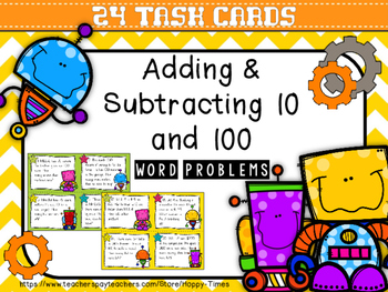 24 Addition and Subtraction from 10 and 100 Word Problems