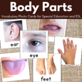 Body Parts Flascards, Vocabulary Cards for Special Ed, ESL