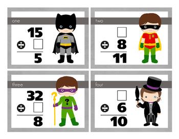 Batman Inspired Division Task Cards