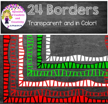 24 Borders!  Transparent and in Color {Confetti and Creativity Clip Art}