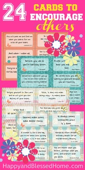 24 Cards to Encourage Others