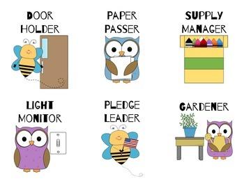 24 Classroom Job Cards