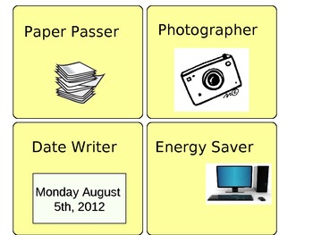 24 Classroom Job Cards with Images
