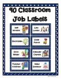 82 Classroom Job Labels
