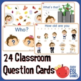 24 Classroom Question cards for Circle Time