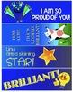 24 Congratulatory Bookmarks / Brag Tags