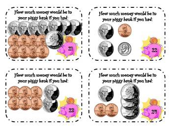 24 Coin Counting Task Cards!