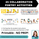 24 Collaborative Poetry Activities PRINTABLE for Middle & Secondary ELA