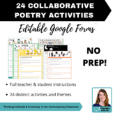 24 Collaborative Poetry Activities using Google Forms™ Middle & Secondary ELA
