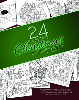 24 Days Till Christmas Coloring Book (CHRISTIAN)