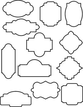 24 decorative frames clipart outline frames filled frames borders rh teacherspayteachers com clip art labels template clip art labels free images