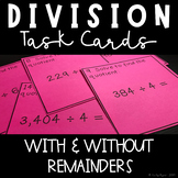 24 Division Task Cards (with & without remainders)