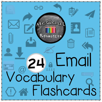24 E-Mail Vocabulary Flashcards and Icons