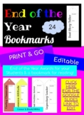 24 EDITABLE END OF YEAR AWARD BOOK MARKS!!!