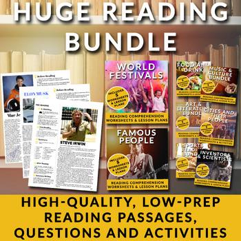24 ESL Lessons Bundle Pack!  Readings, quizzes, vocabulary reviews & more!