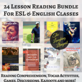 24 ESL Lessons Bundle Pack!  Readings, quizzes, vocabulary reviews & more!