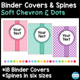 18 Editable Binder Covers and Spines in Soft Chevron & Dots