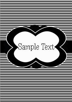 24 Editable Black and White Binder Covers 2 (with 1 and 2 inch spine inserts)