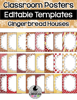 24 Editable Classroom Poster Templates Gingerbread Houses