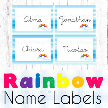24+ Editable Rainbow Name Labels / Supplies Labels / Library Labels {Decor}