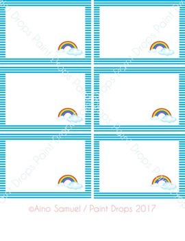 24+ Editable Rainbow Name Labels / Supplies Labels / Library Labels MEDIUM